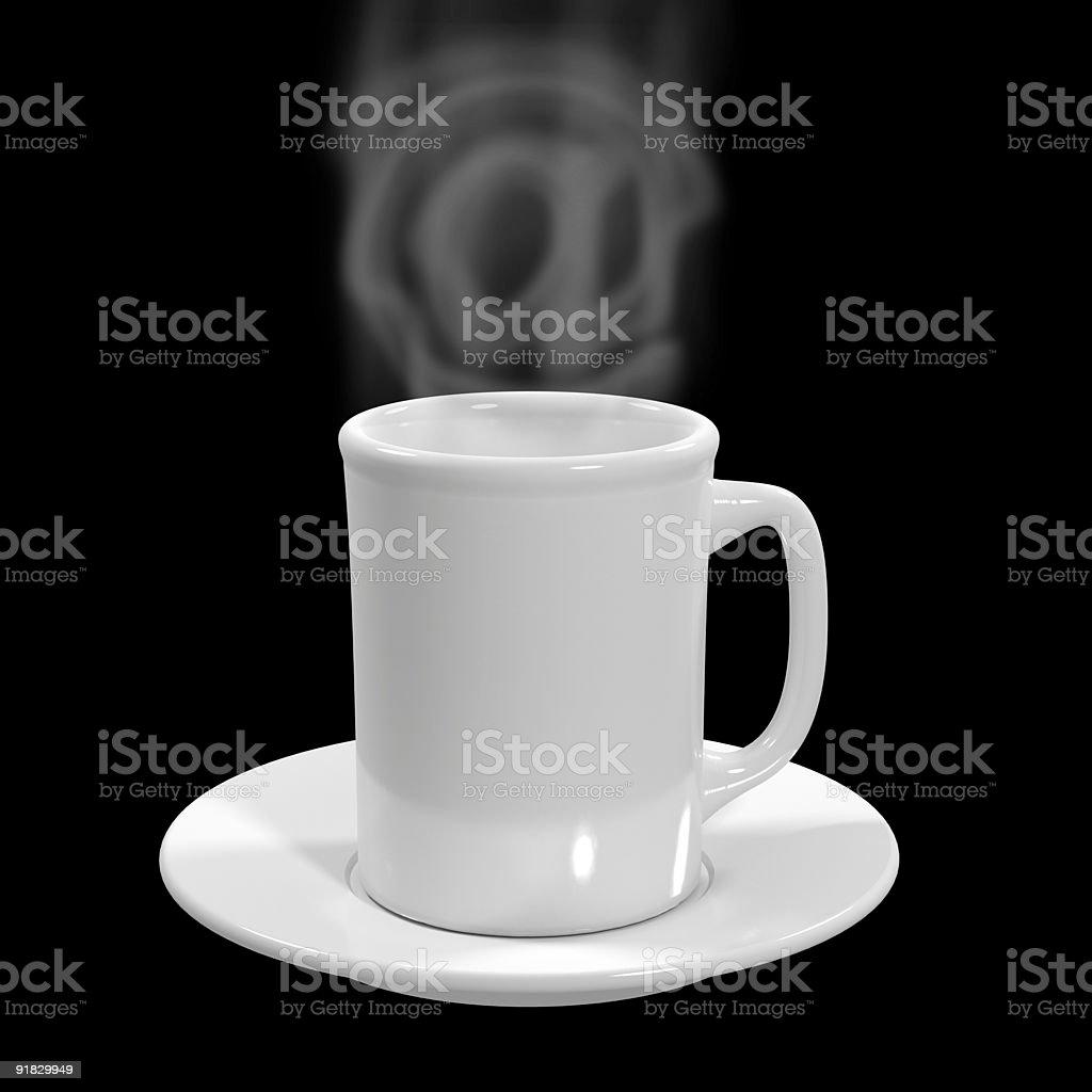 The cap of hot tea royalty-free stock photo