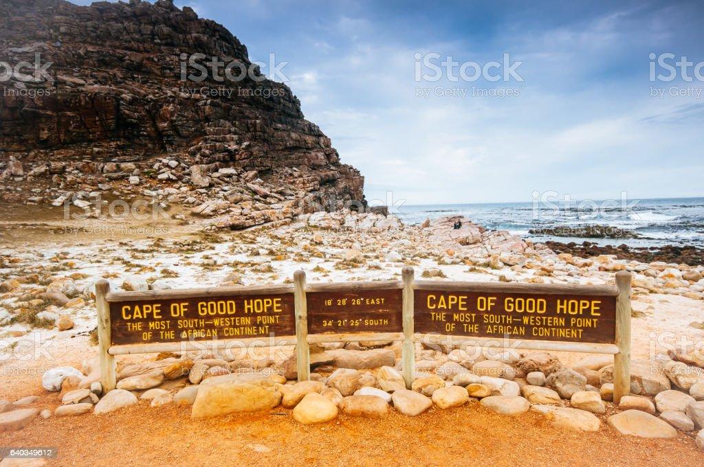 The Cape of Good Hope on the Atlantic coast stock photo
