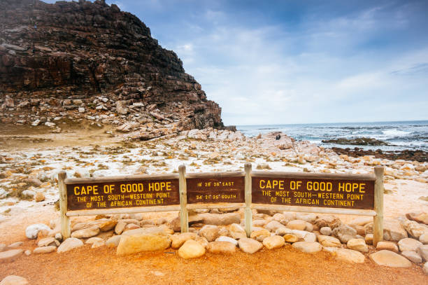 the cape of good hope on the atlantic coast - cape peninsula stock pictures, royalty-free photos & images