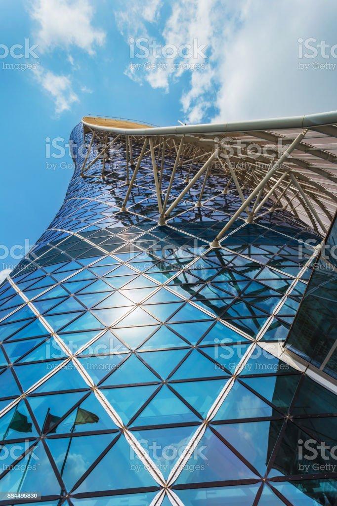 A Capital Gate Tower - foto de acervo