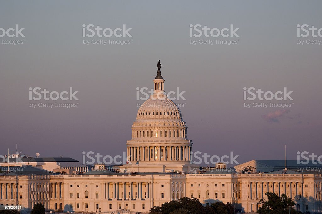 The Capitol At Sunset royalty-free stock photo