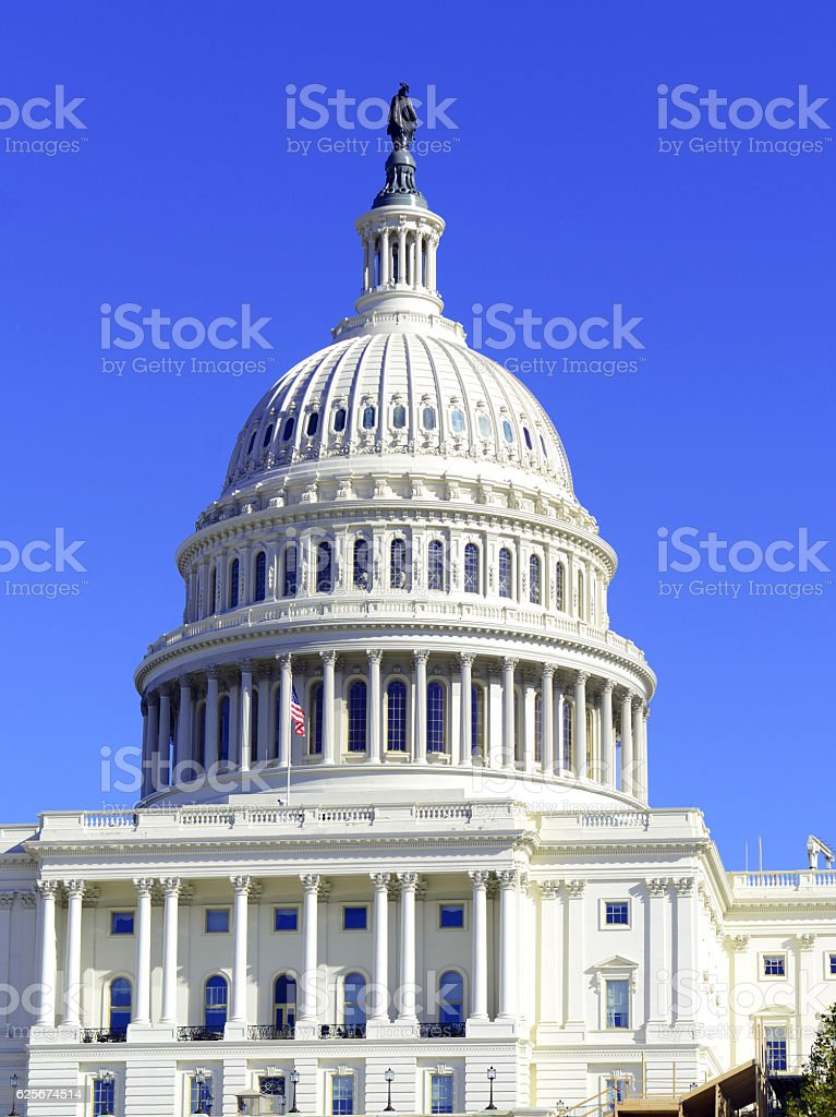 The Capitol Building in Washington DC, capital of the USA stock photo