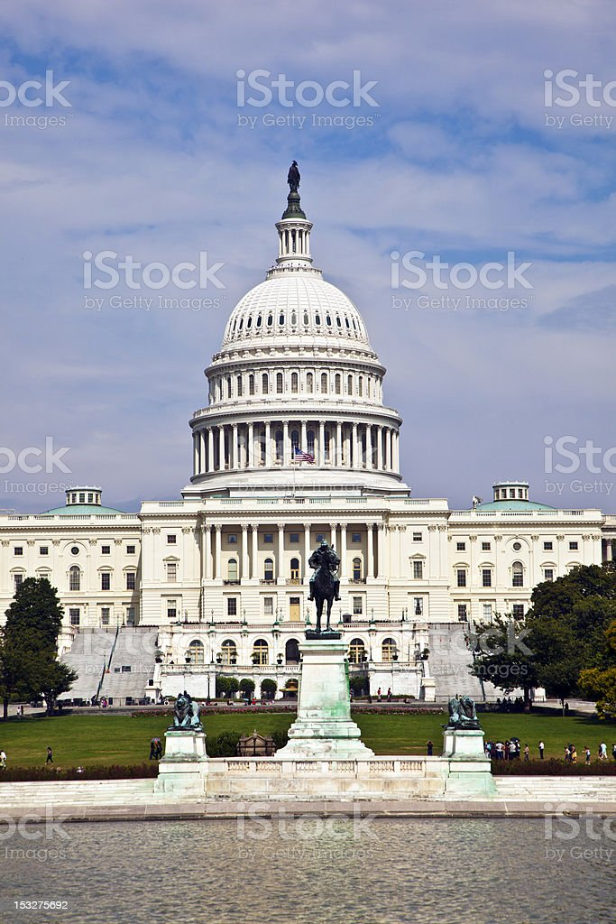 the Capitol in Washington royalty-free stock photo