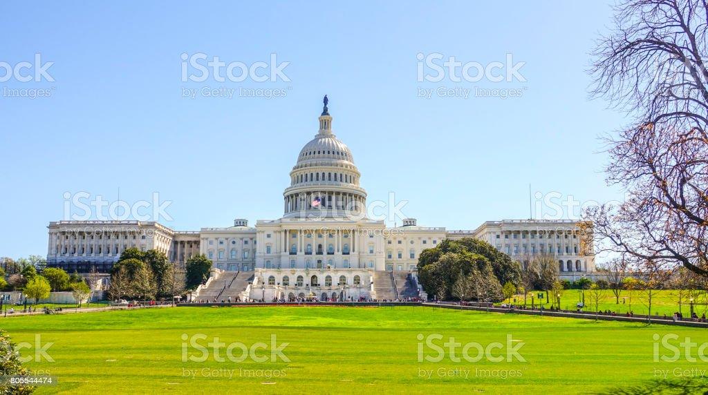 The Capitol in Washington stock photo