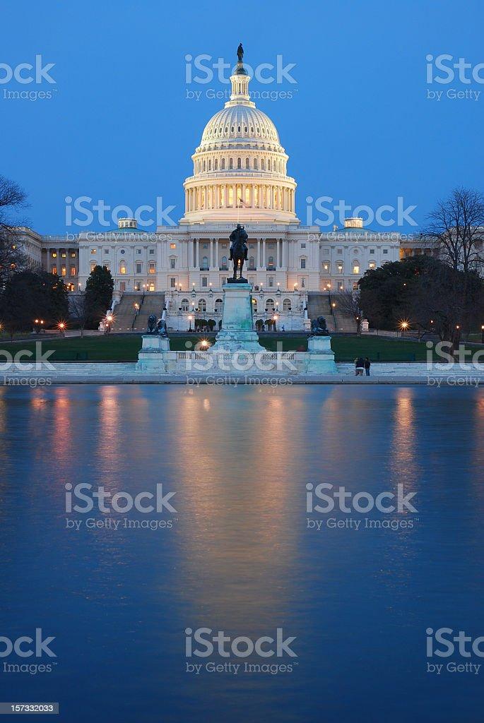 The Capitol Reflecting Pool, Washington, D.C. stock photo