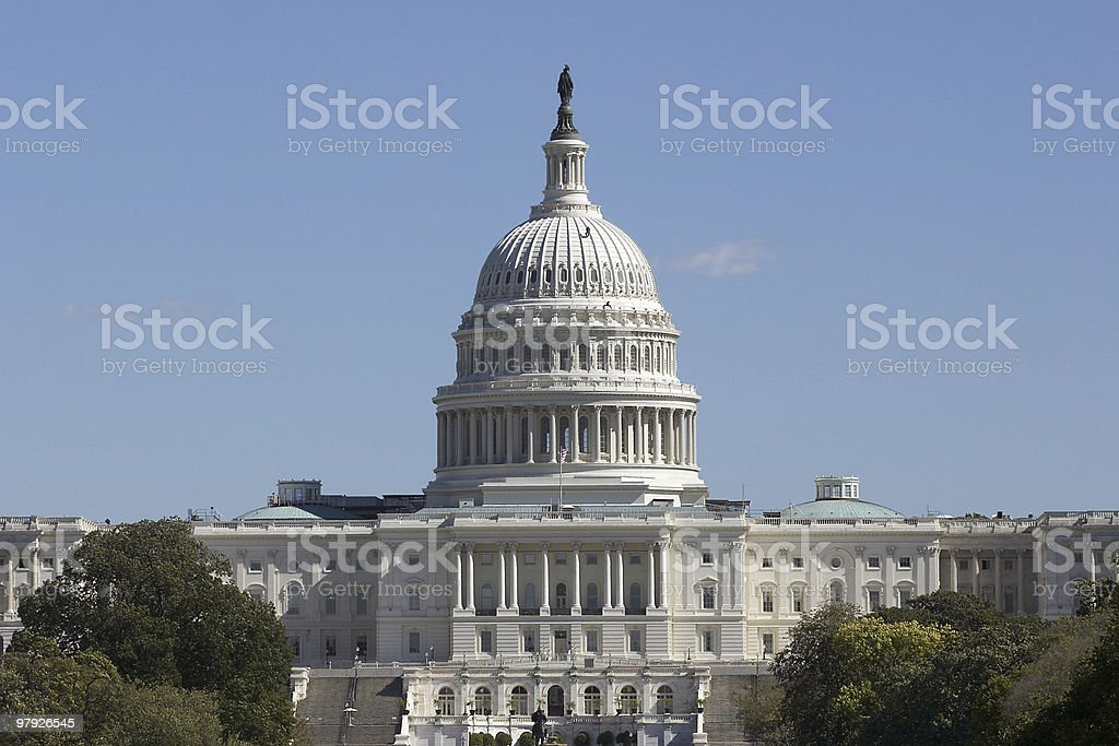 The Capitol, Telephoto View royalty-free stock photo