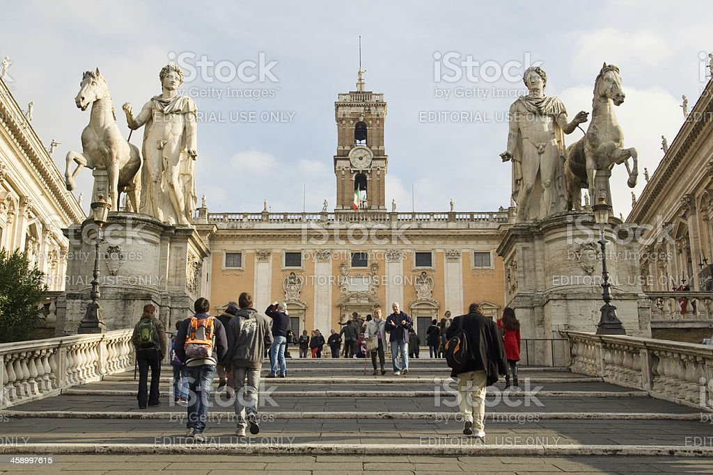 The Capitoline hill royalty-free stock photo