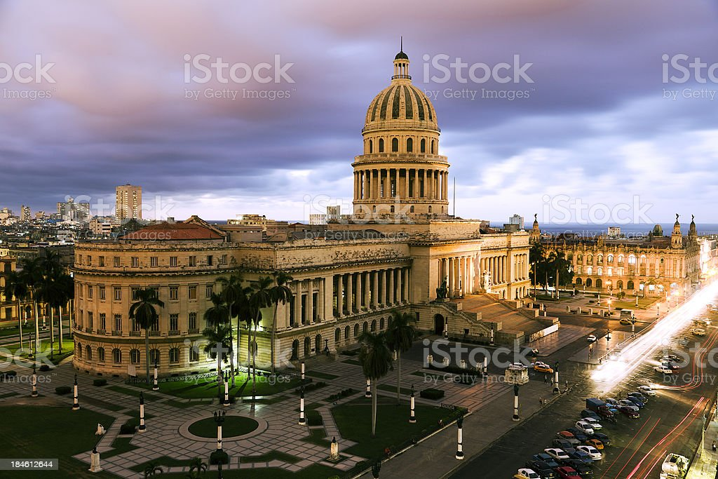 The Capitolio in Old Habana royalty-free stock photo