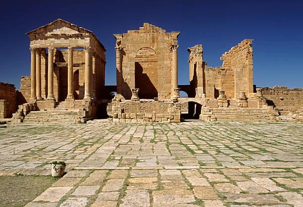 Die Capitolium in Sufetula – Foto