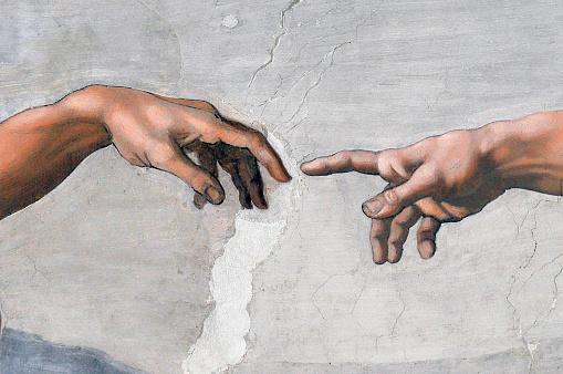 The Cappella Sistina With The Last Judgement Artist Michelangelo Buonarroti Italy Rome - Fotografie stock e altre immagini di Adamo