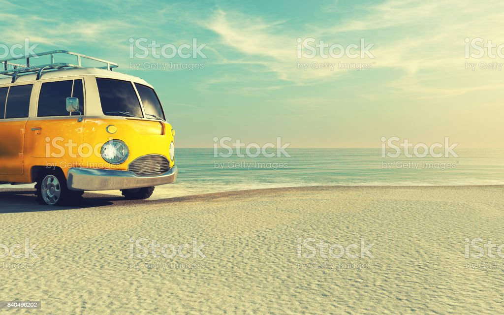 The car is a generic model. stock photo