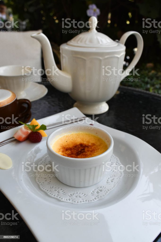 The Caramel vanilla souffle 免版稅 stock photo