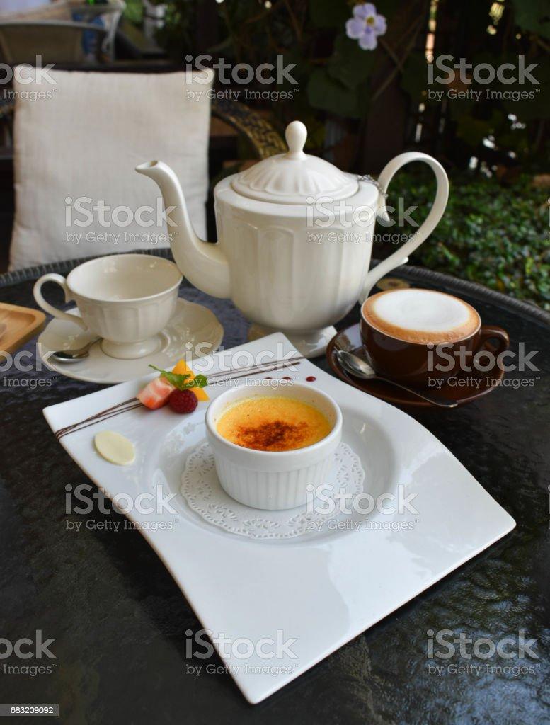 The Caramel vanilla souffle royalty-free 스톡 사진
