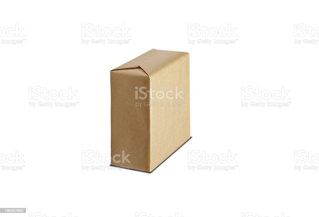 the cardboard box isolated on white background royalty-free stock photo