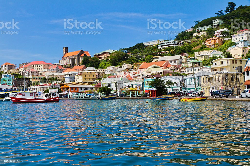 The Carenage, St. George's, Grenada W.I. royalty-free stock photo