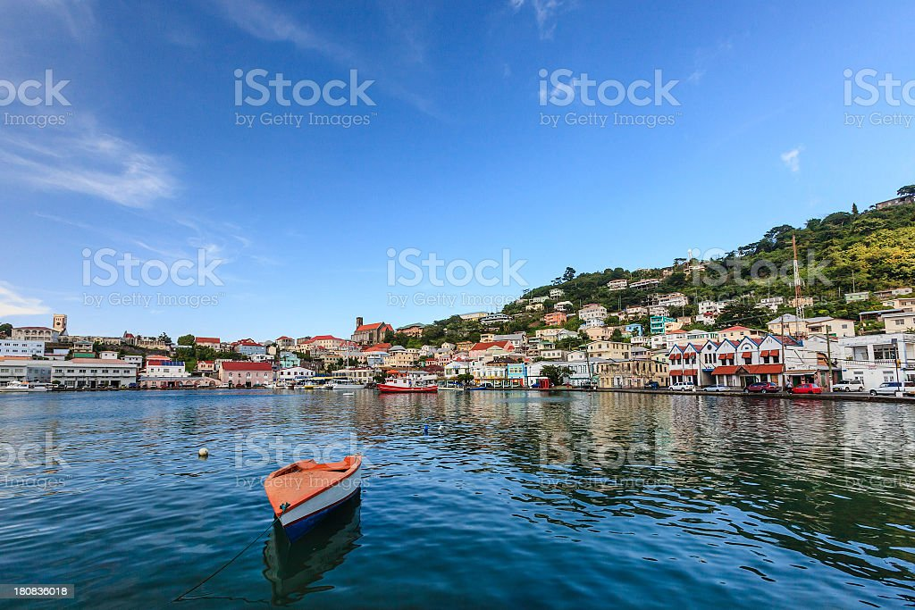 The Carenage, St. George's, Grenada W.I. stock photo