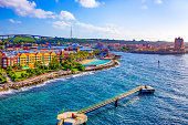 istock The Caribbean. The Island Of Curacao. Curacao is a tropical Paradise in the Antilles in the Caribbean sea 1204443216