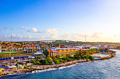 The Island Curacao is a tropical paradise in the Antilles in the Caribbean sea with beautiful architecture, beaches.