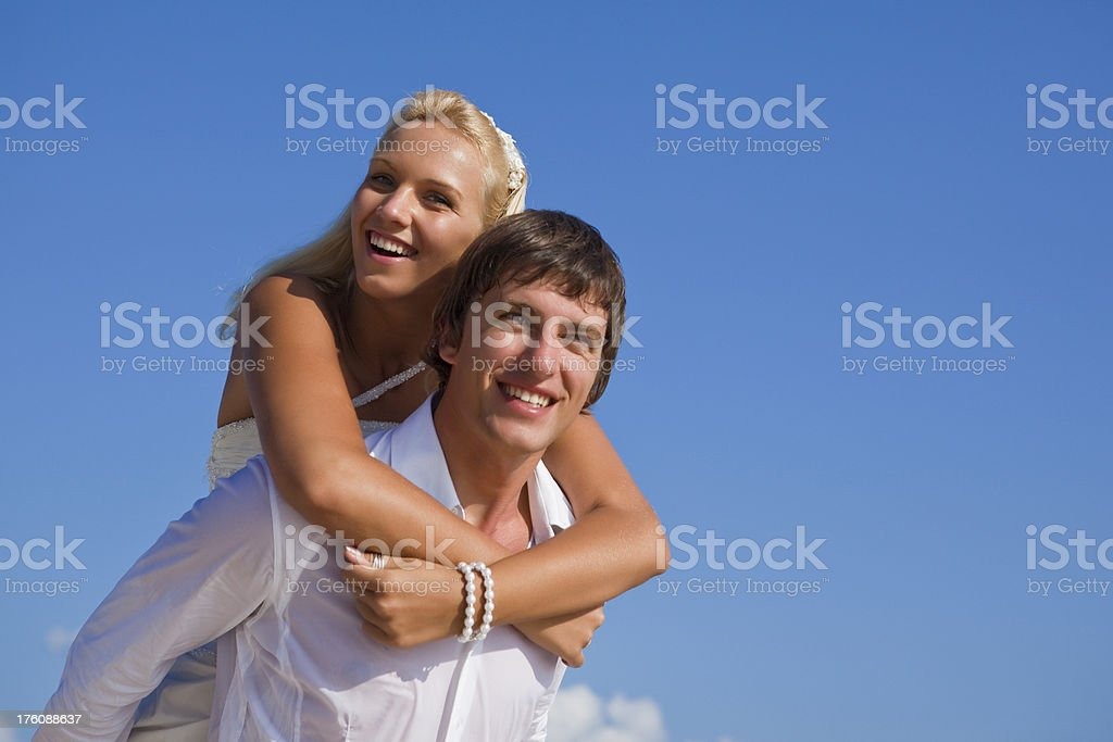 The Caribbean wedding travel royalty-free stock photo