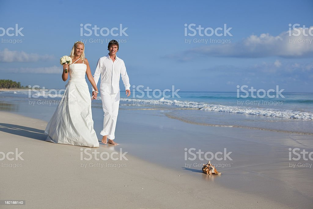 The Caribbean wedding travel royalty-free stock photo