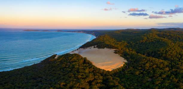 The Carlo sand blow near Rainbow Beach in QLD stock photo