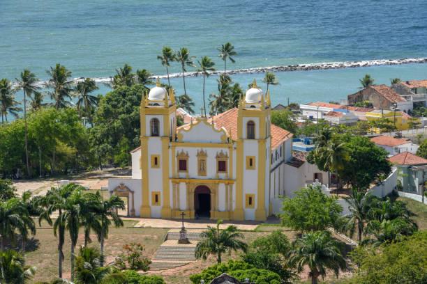 The Carmo church at Olinda in Brazil stock photo