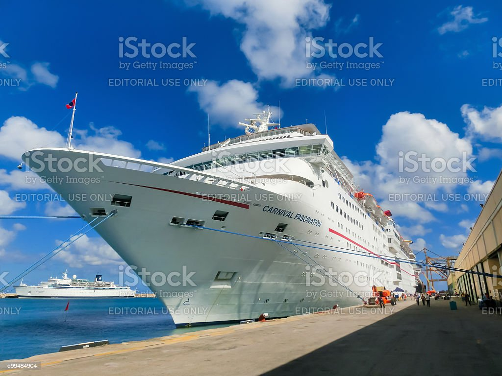 Barbados - May 11, 2016: The Carnival Cruise Ship Fascination stock photo