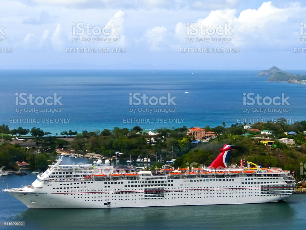 Saint Lucia - May 12, 2016: The Carnival Cruise Ship stock photo