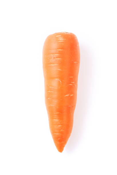 the carrot on white - cenoura imagens e fotografias de stock