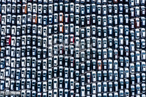 1142724396 istock photo The cars before the export are lined up 1133710343