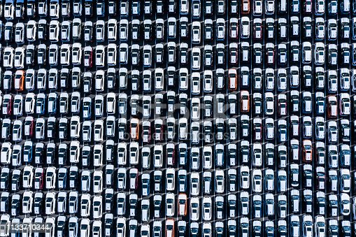 1142724396 istock photo The cars before the export are lined up 1133710344