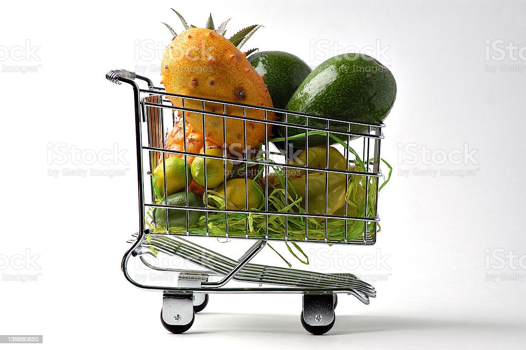 The cart of fruit. royalty-free stock photo
