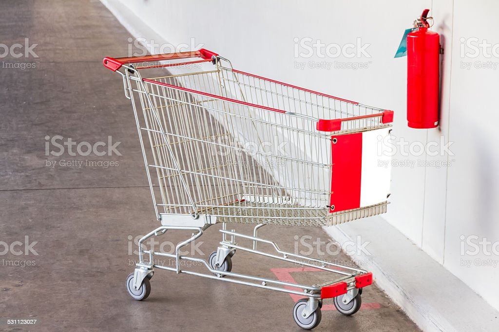 The cart on parking lot. stock photo