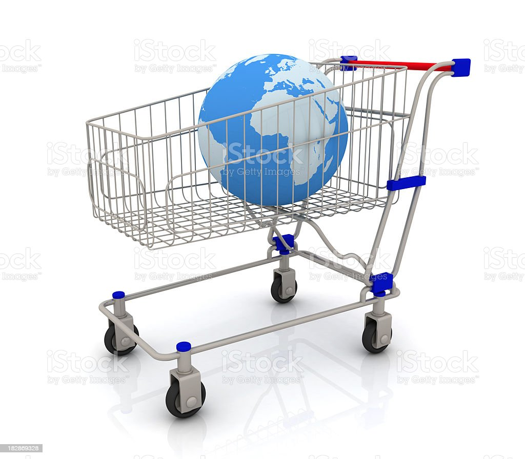 The cart with a Earth royalty-free stock photo