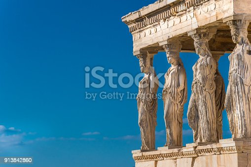 A caryatid is a sculpted female figure serving as an architectural support taking the place of a column or a pillar supporting an entablature on her head.