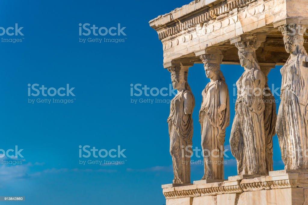 Die Karyatiden das Erechtheion in Athen Akropolis. – Foto