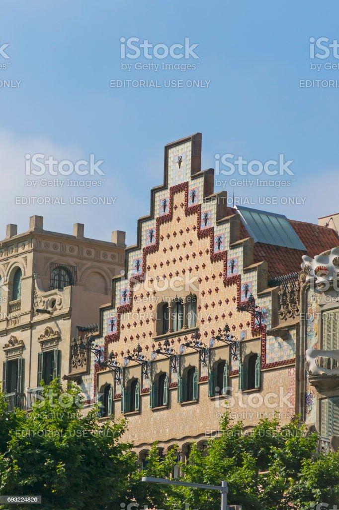 The Casa Ametller, a modernist building designed by  Josep Puig i Cadafalch in Barcelona, Spain stock photo
