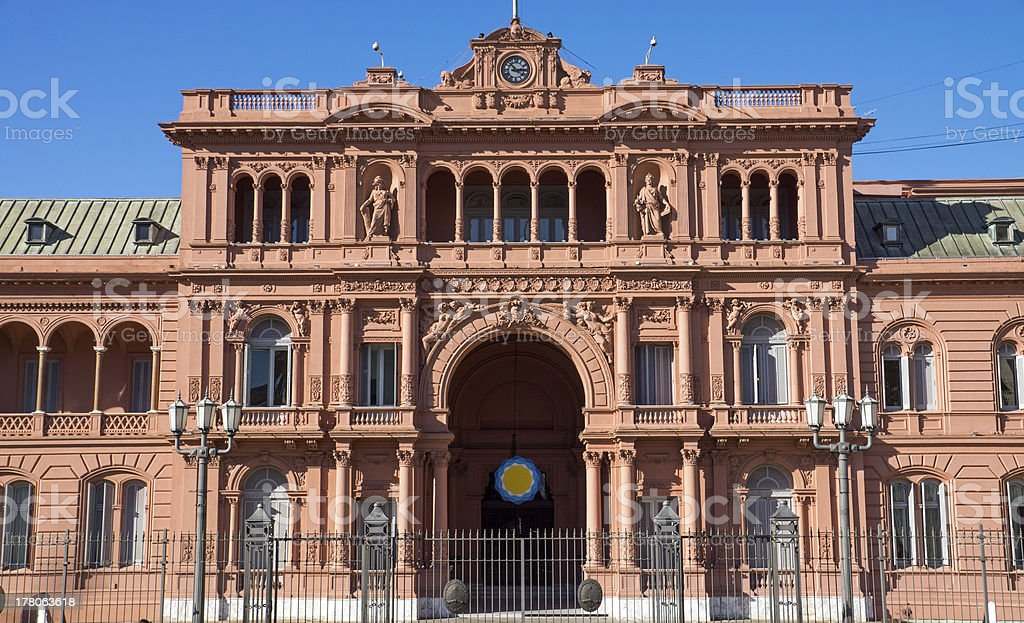 The Casa Rosada in Buenos Aires stock photo
