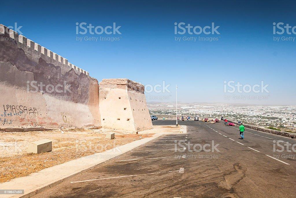 The Casbah at summer day, Agadir, Morocco stock photo