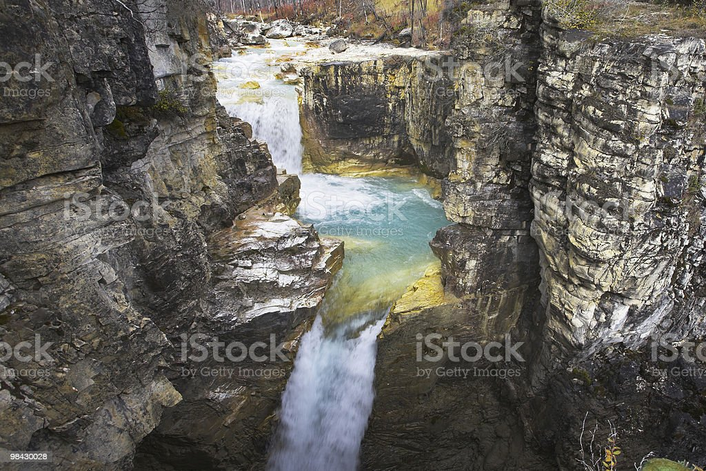 The cascade of falls royalty-free stock photo