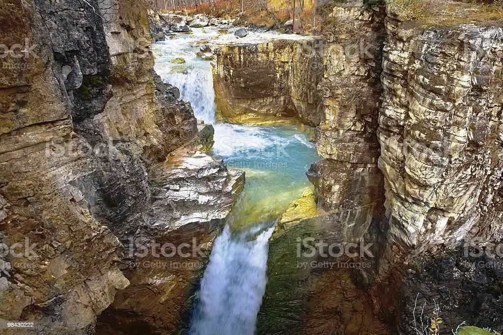 The cascade of falls royalty-free stock photo