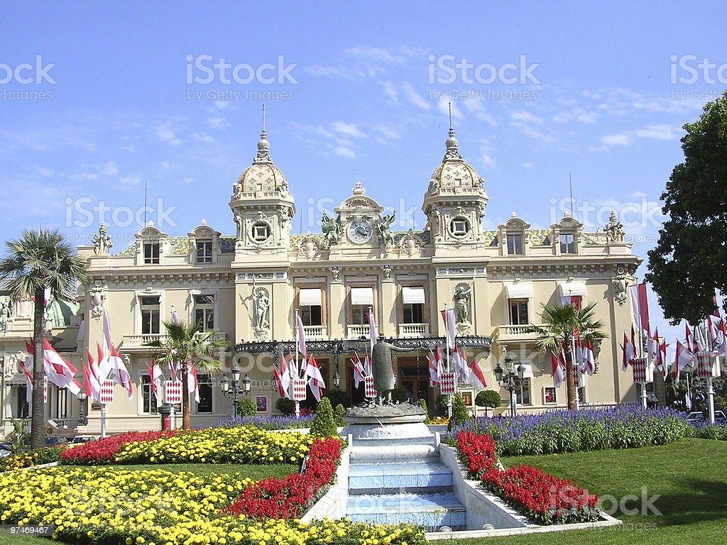 The Casino at Monte Carlo, Monaco. stock photo