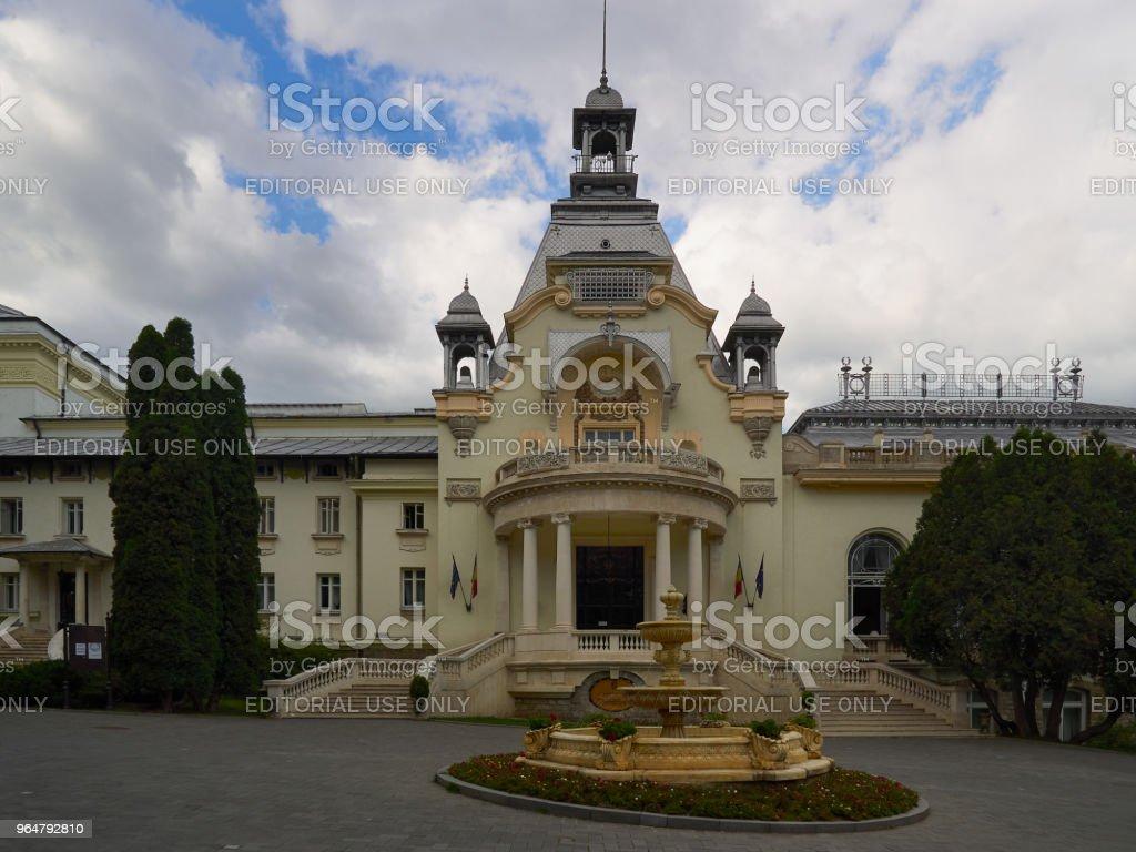 The Casino in Sinaia, Romania royalty-free stock photo