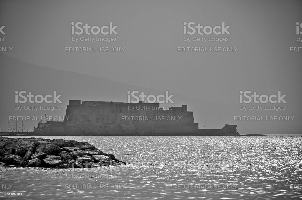 The Castel dell'Ovo, the oldest castle in Naples (Campania, Italy) stock photo