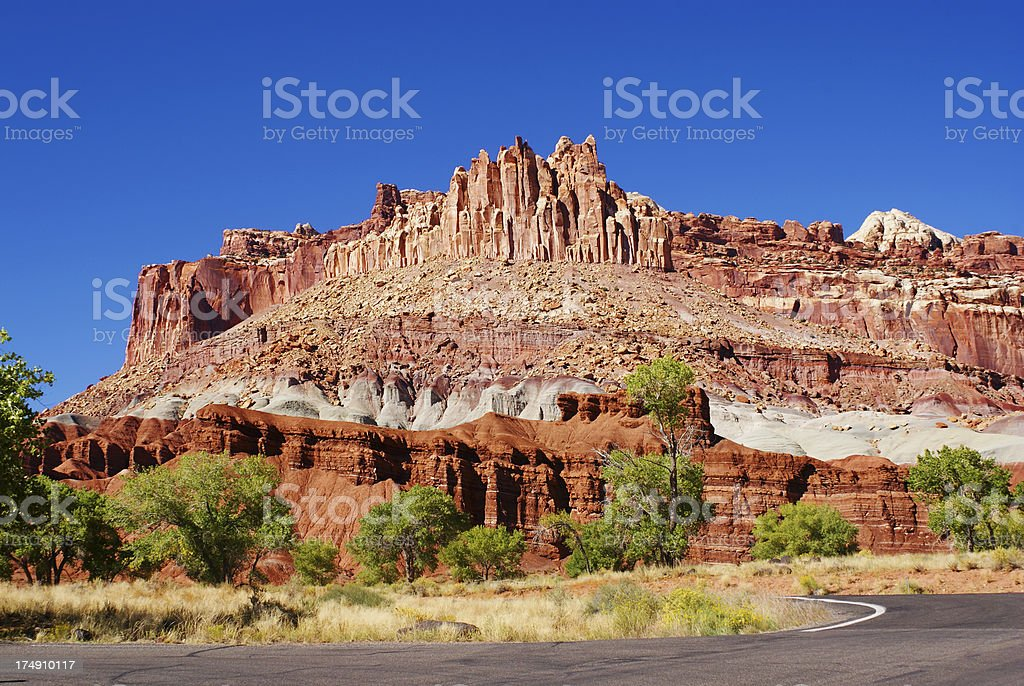 The Castle at Capitol Reef National Park in Utah royalty-free stock photo