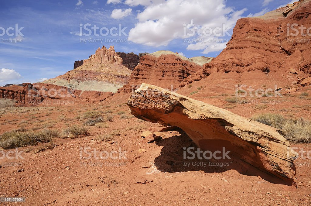 The Castle at Capitol Reef National Park royalty-free stock photo