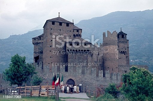Fenis, Aosta Valley, Italy, 1975. The castle