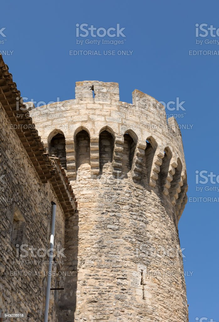 The Castle in Gordes, Vaucluse department, Provence region, France stock photo