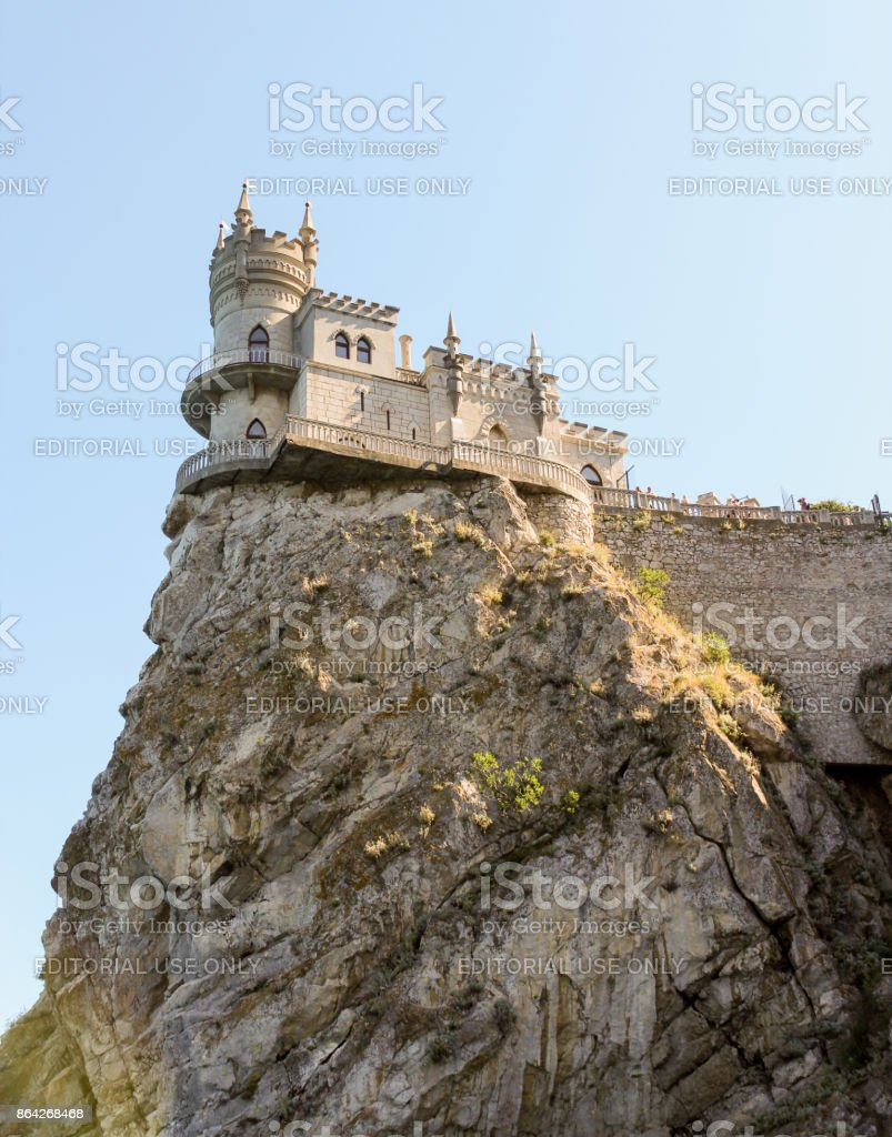 The castle is on top. royalty-free stock photo