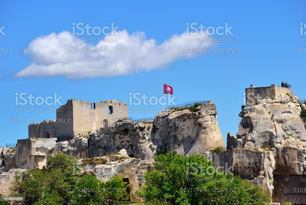 Les Baux castle royalty-free stock photo